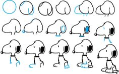 How to draw Snoopy! Awesome!