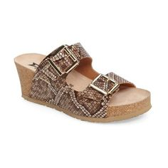 8a135056be Women s Mephisto Lenia Wedge Sandal ( 235) ❤ liked on Polyvore featuring  shoes