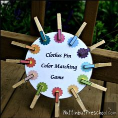 Clothes Pin Matching w/ printable