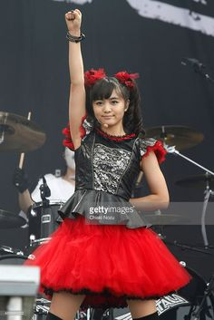 Moametal of Babymetal performs on Day 2 of the Reading Festival at Richfield Avenue on August 29, 2015 in Reading, England.