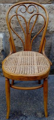 6 Cafe Stoelen.Antique Lotus Chairs By Michael Thonet For Thonet Set Of 6 For