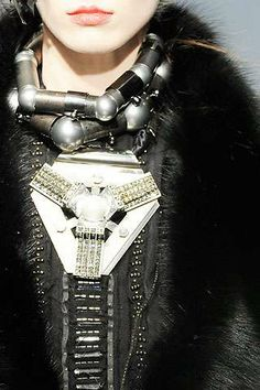 Gigantic Galactic Necklaces - Avant-Garde Chunky Metal And Gem Jewelry for Lanvin 2009 (GALLERY)