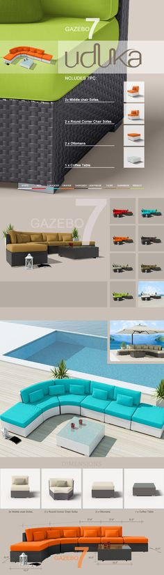 Modern Patio Furnitue #patiofurniture #wickerfurniture #rattanfurniture #outdoorfurniture