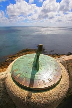 The sun was the first timekeeper, and many people still use it today to help spot direction or approximate time. This ancient sundial casts its shadow on the castle walls of St. Michael's Mount in Cornwall, England. Sistema Solar, St Michael's Mount, Time And Tide, Father Time, Somewhere In Time, What Time Is, As Time Goes By, Mont Saint Michel, Time Clock