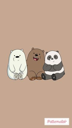 's three bears images from the web Bear Wallpaper, Emoji Wallpaper, Kawaii Wallpaper, Cute Wallpaper Backgrounds, Wallpaper Iphone Cute, Ice Bear We Bare Bears, We Bear, Cute Disney Wallpaper, Cute Cartoon Wallpapers
