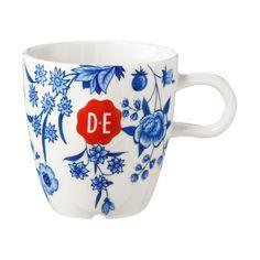 Douwe Egberts Hylper cappuccinomok blauw/wit   Blokker