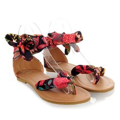 $11.34 Bohemia Women's Sandals With Print and Flip-Flop Design