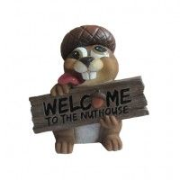 All Nuts Welcome dwk corp Wildlife Decor, Bookends, Home Decor, Decoration Home, Room Decor, Home Interior Design, Home Decoration, Interior Design