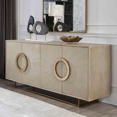 Mitchell Gold Bob Williams Lissabon Medienkonsole Home - Bloomingdale& Luxury Furniture, Furniture Decor, Modern Furniture, Furniture Design, Rustic Furniture, Console Furniture, Dining Room Console, Console Table With Mirror, Antique Furniture