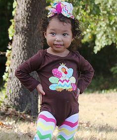 Rainbow Turkey Bodysuit - Infant #zulily #zulilyfinds