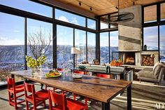 Hit the slopes at a young family's Cascade Mountain compound in the snow-covered hills of Washington State