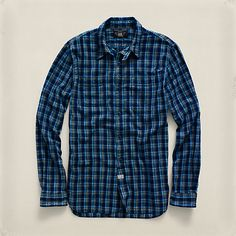 Casual Button-down Shirts Dashing Super Cool Mens Polo Ralph Lauren Rl Western Snap Button Stripe Shirt Large L Big Clearance Sale