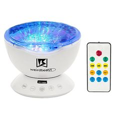 [GENERATION 3]Weirdbeast Remote Control Ocean Wave Project Sleep Night Lights with Built-in Ambient Audio Bedroom Living Room Decoration Lamp for Kids/Adult - Light Up Your Life * Details can be found by clicking on the image.