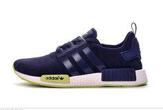 91d030c0df263 Affordable Adidas NMD Men Fur Dark Blue Yellow Green Shoes Online Sale UK  Tenis Adidas