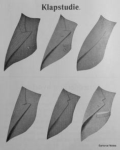 Different lapels on bespoke suits (1937)