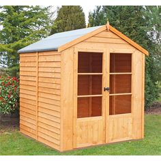 Home & Garden Contemplative 7ft X 5ft Shiplap Apex Wooden Shed 12mm Cladding Sand Felt Single Door 7x5 Attractive Designs; Home & Garden
