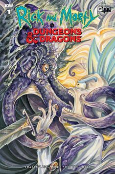 Rick and Morty vs Dungeons & Dragons Oni Dungeons And Dragons, Rick And Morty Comic, Patrick Rothfuss, Cover Pages, Cartoon Network, Anime, Comic Books, Comics, Illustration