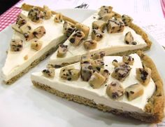 Cookie dough cheesecake with cookie crust.
