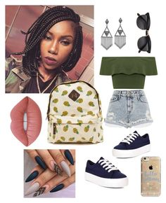 """#Summer2k16"" by mappfrance ❤ liked on Polyvore featuring New Look, House of Harlow 1960, WearAll, River Island, Lime Crime and Agent 18"