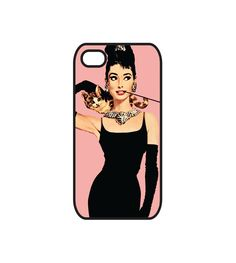 Audrey Hepburn iPhone 4 Case and iPhone 4s Case, Breakfast at Tiffany's iPhone 4 Cover and iPhone 4s Cover. $19.00, via Etsy.