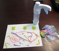 New Puff Paint Recipe you can Pipe & Press from The Artful Child.