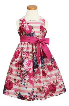 Sorbet+Floral+Stripe+Dress+(Toddler+Girls,+Little+Girls+&+Big+Girls)+available+at+#Nordstrom