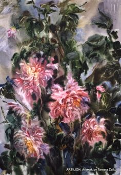 tamara zaiko | Tamara Zaiko. Dahlias. Still life. Paper, watercolor. Subject: #art # ...