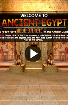 Ancient Egypt Interactive Powerpoint.. Quite the virtual experience!