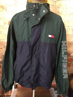 Vintage 90's Tommy Hilfiger Spelled Out Sailing Jacket Windbreaker by RackRaidersVintage