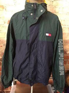 Vintage 90's Tommy Hilfiger Spelled Out Sailing Jacket Windbreaker by RackRaidersVintage