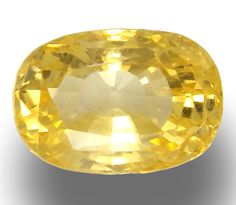 Certified 6.11 ct Unheated Natural Vivid Golden Yellow Sapphire Ceylon Loose #Unbranded