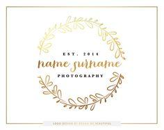Logo Design // gold & Black by BrandMeBeautiful Photography Business Cards, Photography Logo Design, S Logo Design, Calligraphy Logo, Circle Logos, Brand Me, Create A Logo, Letter Logo, Business Branding