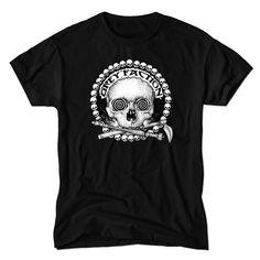 NWT KONQUEST foil Men/'s club-wear T-shirt  Thermal Indian dual Skull Studded