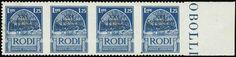 "1,25L. blue 1930 ovpt.""XXI Congresso Idrologico"" in horizontal marginal bd.4,u/m.Var."""