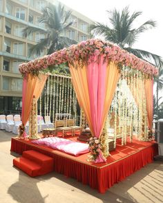 ideas party events indian Top Wedding Planners In Delhi Best Picture For wedding ceremony traditions For Your Taste You are looking for something, and it is going to tell you exactly what Desi Wedding Decor, Wedding Decorations On A Budget, Wedding Mandap, Budget Wedding, Wedding Ceremony, Wedding Receptions, Ceremony Decorations, Reception Stage Decor, Sikh Wedding
