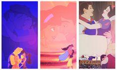 Meg, Jasmine, Snow White