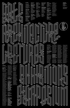 Michael Bierut and Jessica Svendsen (MFA 2013) Yale School of Architecture Fall 2015 poster