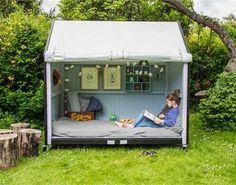 PLUS - Shelter på hjul - børn - inspiration til indretning af have - udeliv - idéer til haven - legehus