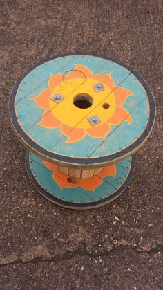 Hey, I found this really awesome Etsy listing at https://www.etsy.com/listing/238415848/hand-painted-cable-reel-table