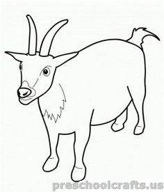 Top 25 Free Printable Goat Coloring Pages Online Goats and Craft