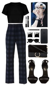 """Midnight blue"" by gucci-af ❤ liked on Polyvore featuring Rosetta Getty, Yves Saint Laurent, Chloé, Witchery, MAC Cosmetics and Christian Dior"