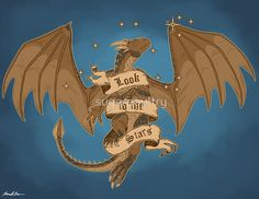 Dragonheart Draco Look To The Stars Fan Art Print
