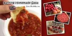 Canning Homemade Salsa from Fresh Tomatoes