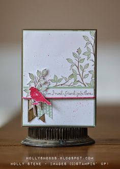 Holly's Hobbies: - A Sketch Challenge - Choose Happiness Quick Cards, Cute Cards, Diy Cards, Cards For Friends, Friend Cards, Stampin Up Catalog, Holly Hobbie, Stamping Up Cards, New Year Card