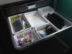 Drawer Organizing with Dollar Tree Organizing Bins!