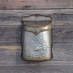 "Handpicked piece of the day is our ""Galvanized Vintage Post Box"" featured in ""Melvin's Metal Barn"" Shop Now!   #antiquemarketdecor   #postbox #vintageinspireddecor #galvanizeddecor #farmhouse #farmhousedecor #rusticdecor #frontporchdecor #galvanizedmetal #rusticcharm #decorideas #modernfarmhouse #kitchendecor #metaldecor"