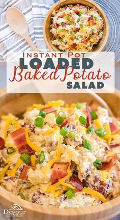 You know you love a good Loaded Baked Potato, so why not a Loaded Baked Potato Salad Recipe you can enjoy at ever BBQ all summer long! Red Potato Salad Recipe with Bacon, cheese, green onions and a delicious sauce.  Perfect Potluck Salad Recipe #instantpot #pressurecooker #easyrecipe #sidedish #Potluck #potlucksalad #Potatosalad #Easypotatosaladrecipe #recipe #recipes #foodie #food #pressurecookerrecipe #instantpotrecipe #sidedishrecipe #potlucksaladrecipe #potato #bakedpotato…