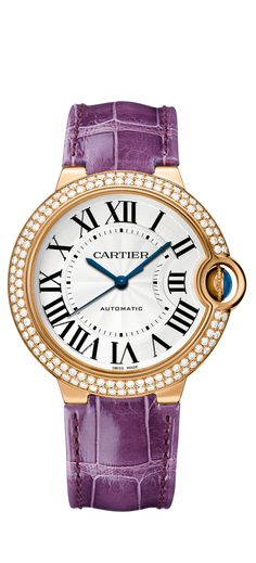 ballon bleu de Cartier  Watch ~ automatic, pink gold, diamonds, sapphire ~ the sapphire safely nestled in a balloon in its side http://www.cartier.us/collections/timepieces/womens-watches/ballon-bleu-de-cartier/we900551-ballon-bleu-de-cartier-watch-36-mm