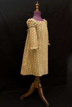 Cotton roller print child's dress, c.1820