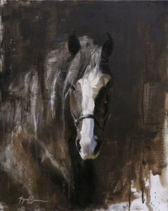 "Buy Prints of Draft Horse Portrait, a Oil on Canvas by Morgan Cameron from United States. It portrays: Animal, relevant to: work horse, draft, equine, draft horse portrait, morgan cameron, farm, horse, horse portrait 16x20"" oil on canvas, a portrait of a draft horse."